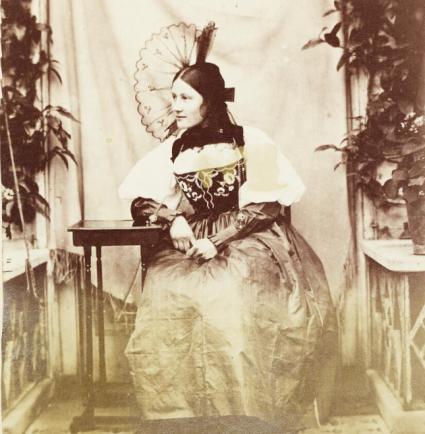 Dillwyn Llewelyn (undated) Thereza Llewelyn wearing a Bernese (Swiss) Peasant dress