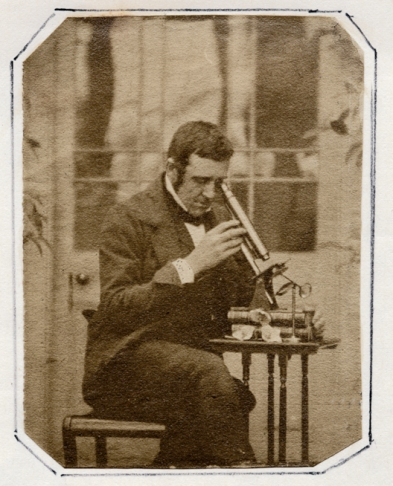 Thereza Llewelyn (c.1853) Portrait of John Dillwyn Llewelyn. Collodion negatve, calotype print.