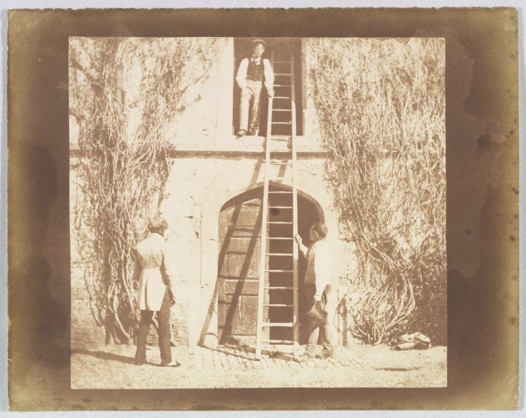 William Henry Fox Talbot (1800–1877) The Ladder, April 1844, salted paper print from paper negative 19.6 × 24.9 cm (sheet), 17.1 × 19.3 cm (image) Metropolitan Museum of Art