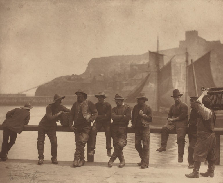 FRANK MEADOW SUTCLIFFE Whitby Fishermen, ca. 1885 Carbon print 9 5:8 × 11 9:16 in 24.4 × 29.4 cm Courtesy National Gallery of Art, Washington