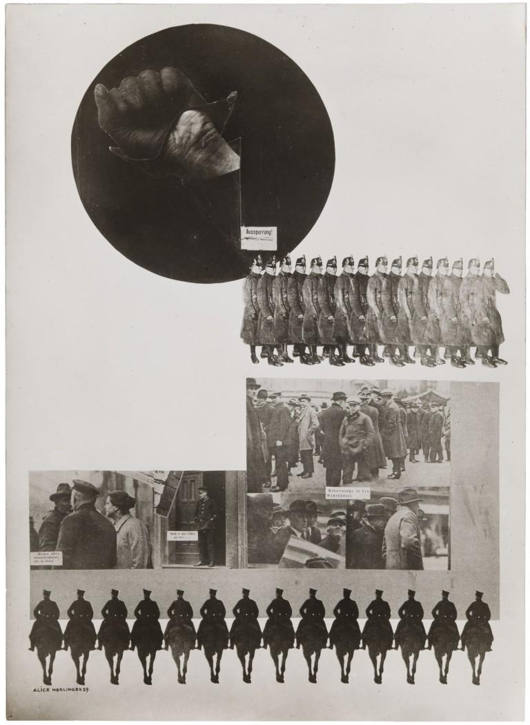 Lex-Nerlinger, Alice Aussperrung 1929 Gelatin silver print  20.5 x 14.9 cm