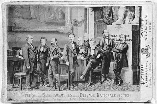 Eugène Appert Deputies de la Seine et Membres de la Défense Nationale, 7 Avril 1870. Photomontage.