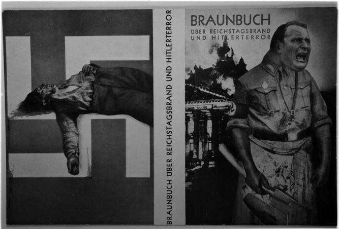 John Heartfield, original jacket of The Brown Book of the Reichstag Fire and Hitler Terror. Akademie der Künste, Berlin