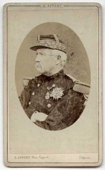 Ernest Eugène Appert (1870s) Marie Edme Patrice Maurice de Mac-Mahon, Duke of Magenta, albumen carte-de-visite, 92 mm x 57 mm.