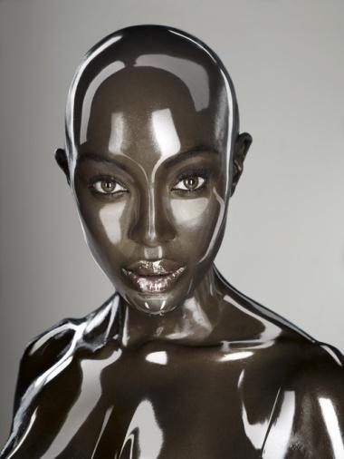 (2011) digitally manipulated portrait of model Naomi Cambell