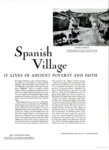 W. Eugene Smith, 'Spanish Village', LIFE magazine April 9, 1951.
