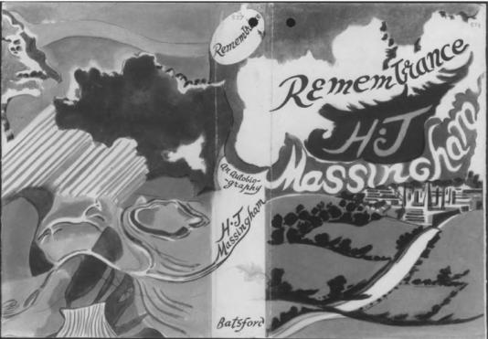 Paul Nash (1942) dust jacket for H.J. Massingham Remembrance: An Autobiography.