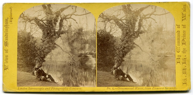 Stereoview of Sandringham, circa 1863
