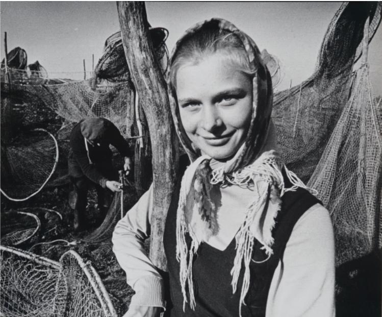 VACLOVAS STRAUKAS Žvejo dukra 1972, 49 x 59,5 cm