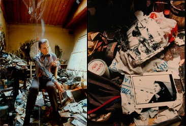 Michael Holz (1974) Bacon in his studio.