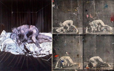 Bacon's Two Figures (1953) and the Muybridge reproductions found in Bacon's studio