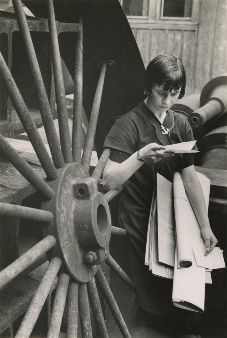 Berti, Laufmädchen in der Maschinenfabrik Oerlikon, 1936