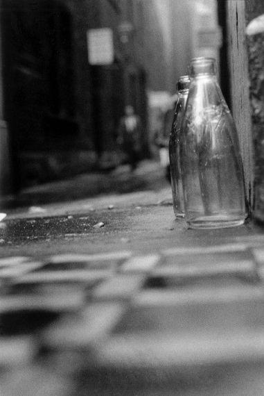 Sergio Larrain (1958-59) Bottles left for the milkman, London.