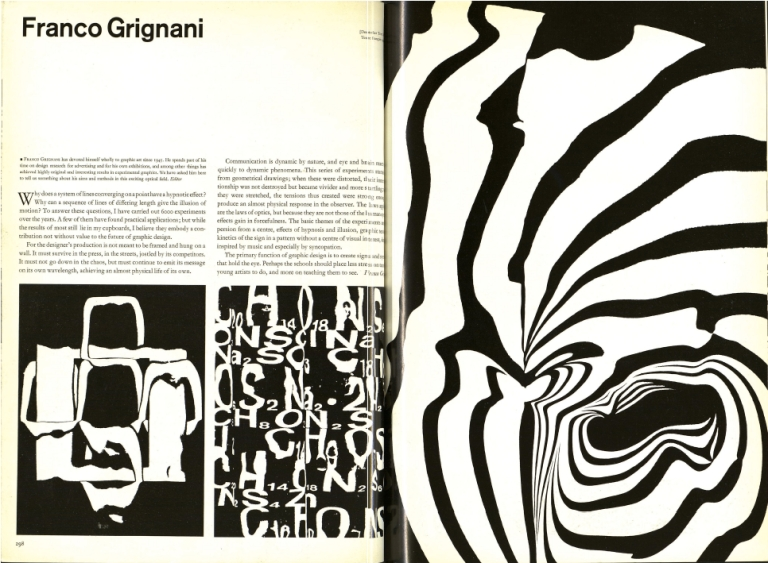 Grignani, Franco . Graphis (Archive - 1944-2005) ; New York Vol. 19, Iss. 108, (Jul 1, 1963)- 298-301.