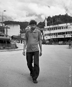 I walk 8100 steps in Srebrenica 58cm x 70cm 2013 pigment ink print on aluminium, framed