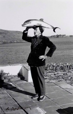 Robert Descharnes (1959) Salvador Dali with dolphin.