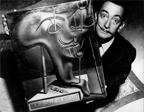Robert Descharnes (1959) Salvador Dali with Soft Self Portrait