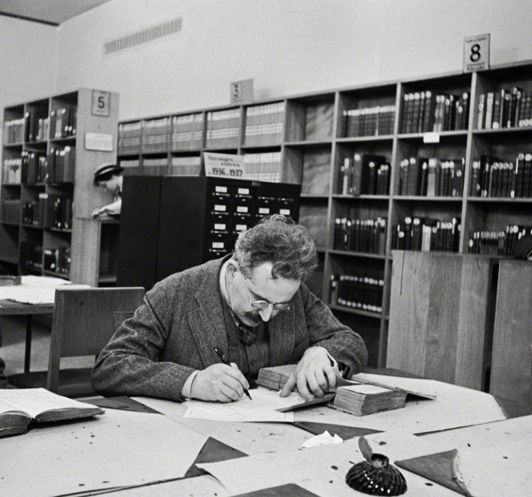 Walter Benjamin in der Pariser Nationalbibliothek