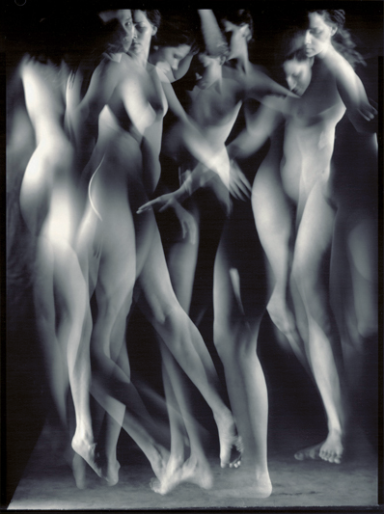 Pavel Odvody (2005) Dance [Motion studies]. Gelatin silver print, contact print 24x18 cm