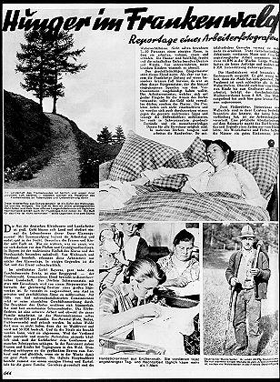 AIZ-Reportage 'Hunger in Frankenwald', 1930