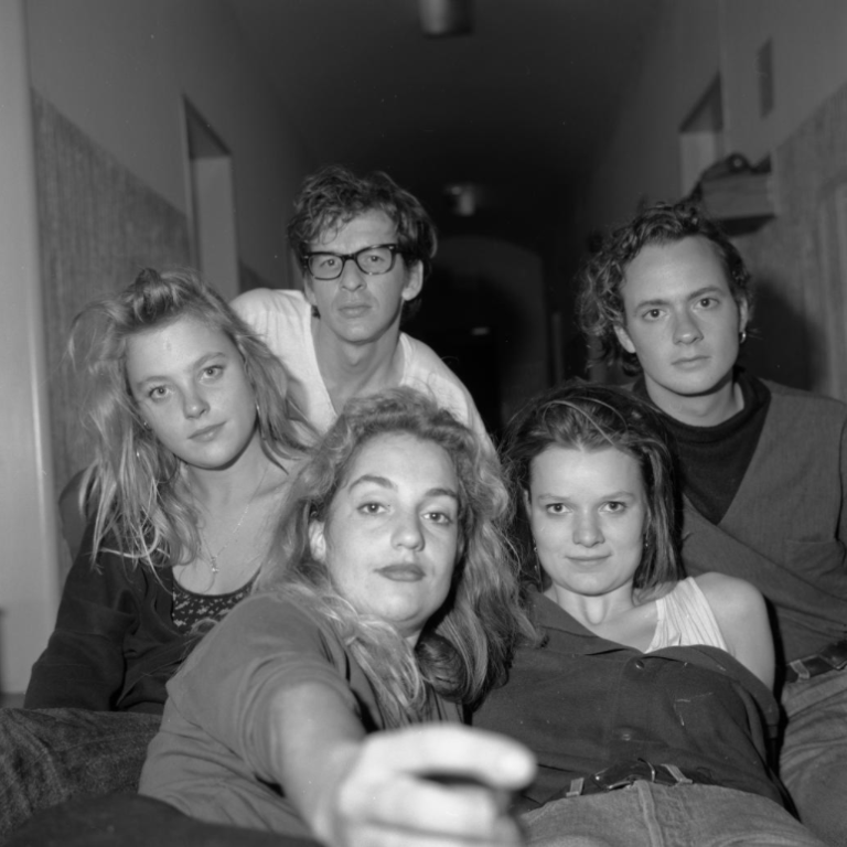 Esther Kroon with friends : classmates, Prague (1989)