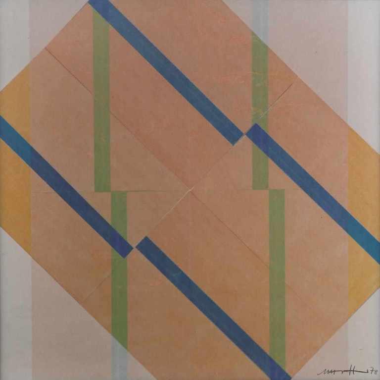 Hoepffner, Marta- Streifen Konkret I Streifen Konkret I (Interferenzbild in polarisiertem Licht). 1978. Chromogenic print on Kodak paper. 30,2 x 30 cm