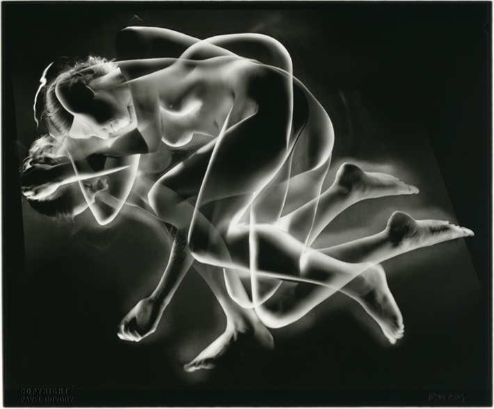 "Pavel Odvody (2004/5.) Liegende Akte (Reclining Nude) silver gelatin print from 8""x10"" negative"