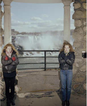 Esther Kroon and Hatta Fokker (1991) Niagara Falls, New York.