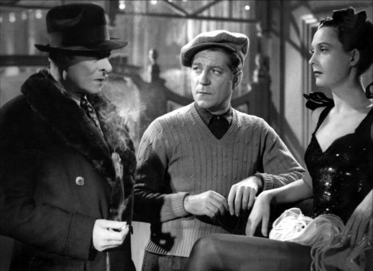 Raymond Voinquel, Jules Berry, Jean Gabin and Arletty Le Jour se Lève directed by Marcel Carné, 1939
