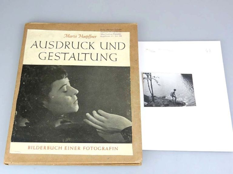 Silver gelatin photo Marta Hoepffner + Book printing and design in 1947