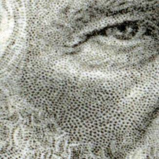 Detail of stipple in hand-engraved non-photographic image.