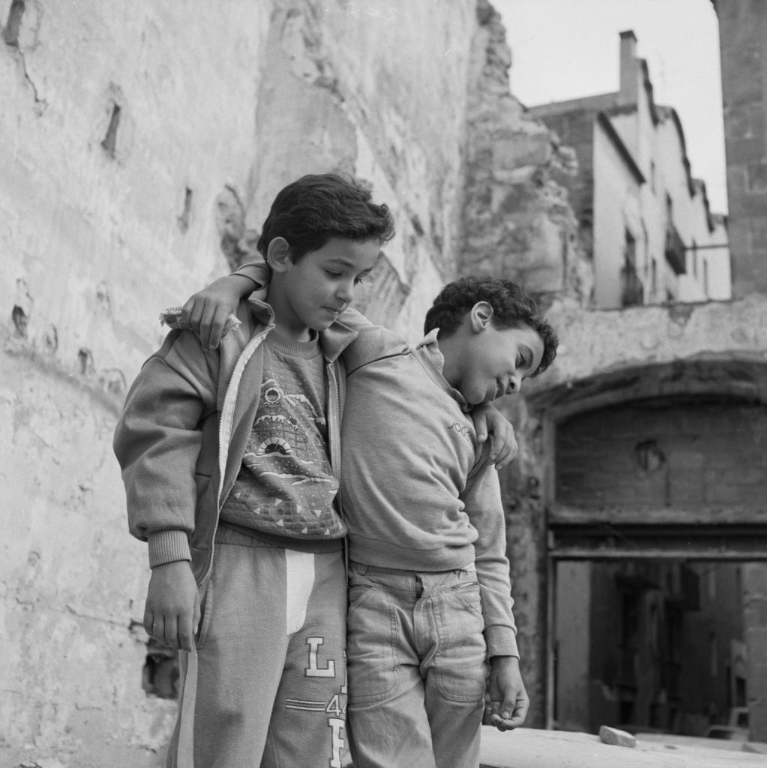 Two boys, Barcelona, Spain (1988)