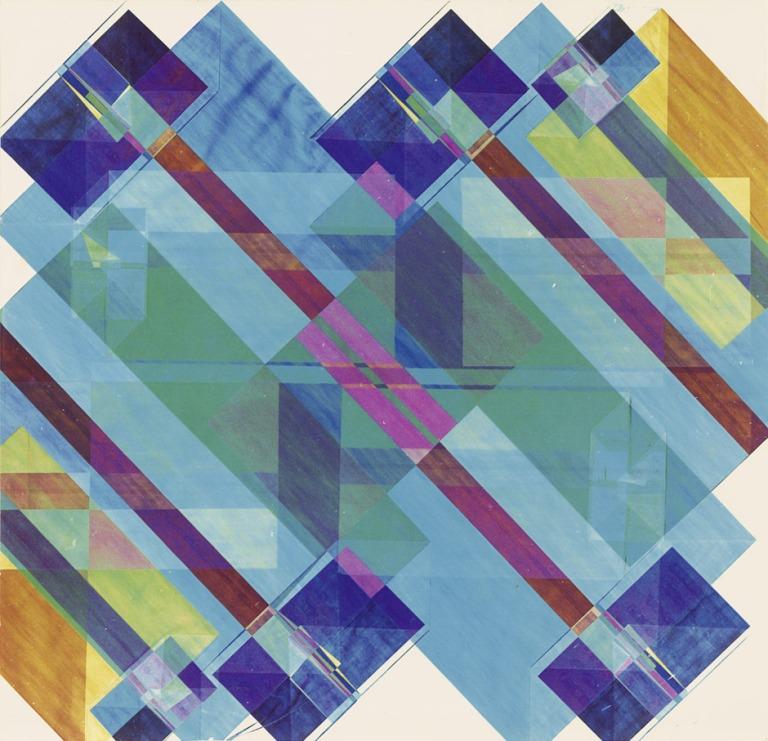 Untitled (Montage diagramm Nr. 10). 1967. Vintage chromogenic print on Agfa Color paper. 20,5 x 21,2 cm
