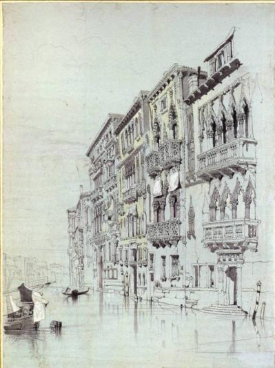 John Ruskin (1841) The Palazzo Contarini-Fasan, Venice
