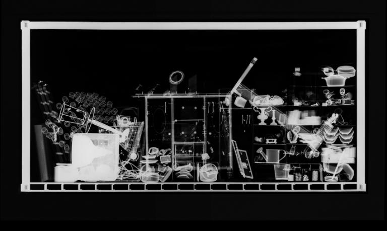 Hab und Gut N° 1, 2012, Radiografie auf Röntgenfilm, 98,7 x 21