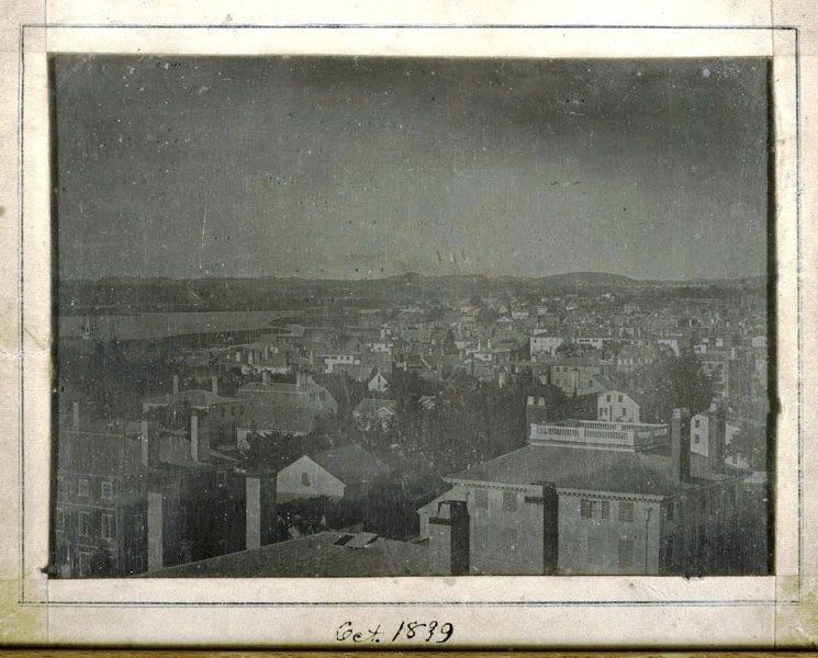 Henry Coit Perkins A view of Newburyport looking north from Harris Street Church 1839 (ca) Daguerreotype, whole plate 6 x 8 ins (approx.) Museum of Old Newbury