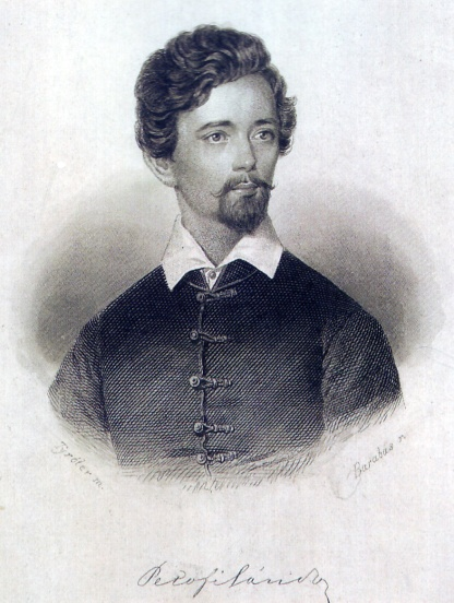 Miklos Barabas (1846) The artist's most famous illustration of Petofi portrayed the poet with a small beard published 15th March 1847 in a first edition of Petofi's poetry.