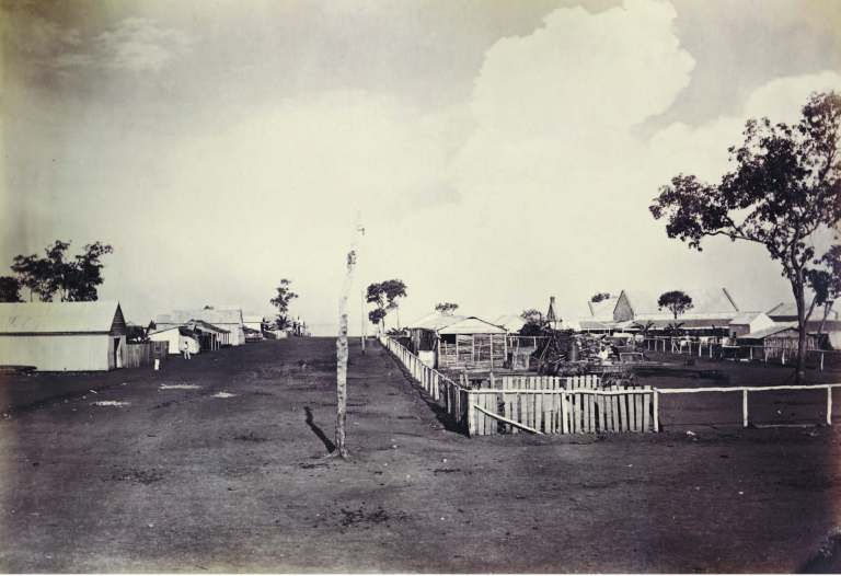 Mitchell Street, looking south-east 8 June 1875