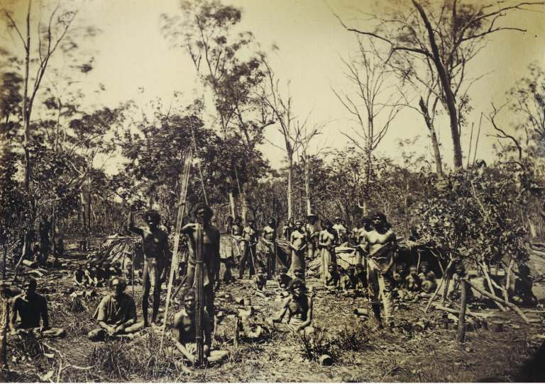 Native camp, Palmerston April 1874