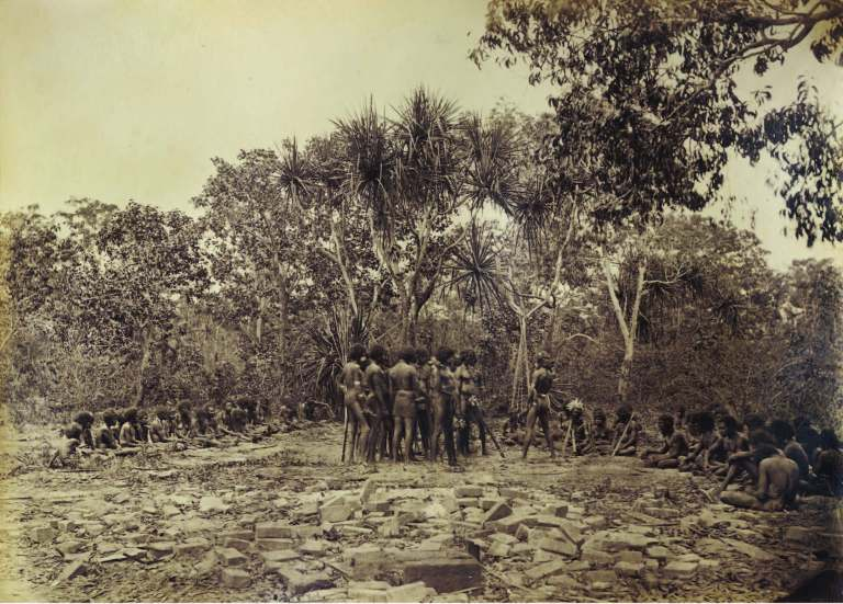Native corroboree, Port Essington November 1877