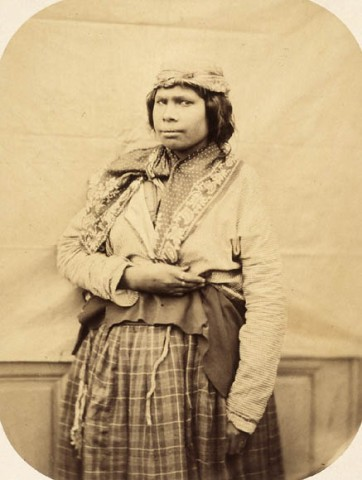 Paul-Émile Miot (1859) Mi'kmaq woman on board the French aviso Sésostris Albumen print Library and Archives Canada