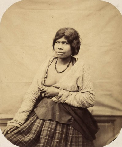 Paul-Émile Miot (1859) Mi'kmaq woman on board the Sésostris [Newfoundland] Albumen print 19.1 x 15.9 cm Library and Archives Canada