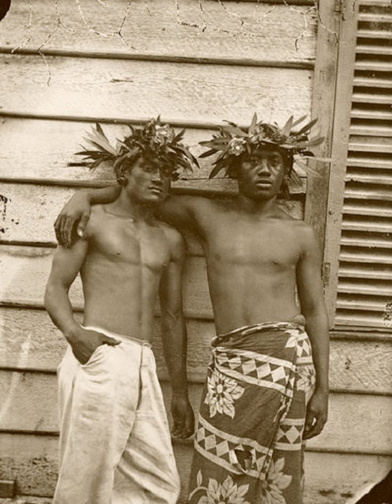 Paul-Émile Miot Two Tahitian men 1870 (ca) Photograph Musée de l'Homme