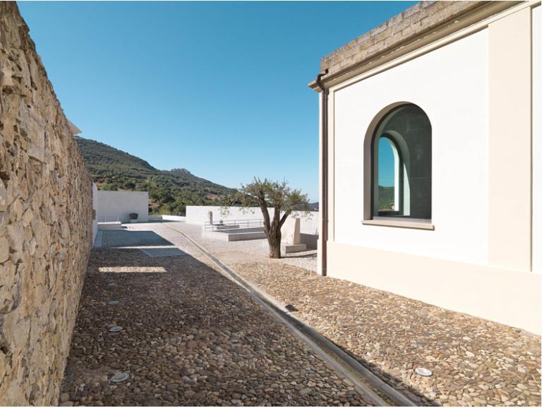 Museo Nivola, restored bath-house building