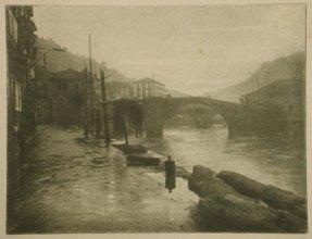 Pia Panini (n.d.) untitled river landscape, bromoil.