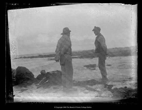 John Millington Synge (c.1898-early 1900s) Two traditionally dressed Aran islandmen.