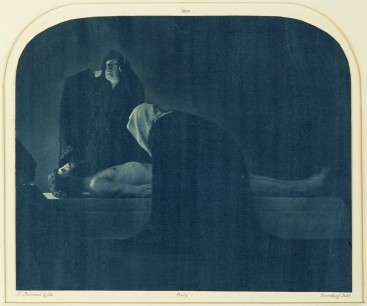 Pierre Dubreuil (1900) Christ au Sépulcre,from the triptych Christ au Sépulcre, 25.70 x 31.40 cm Museum of Arts and Crafts in Hamburg