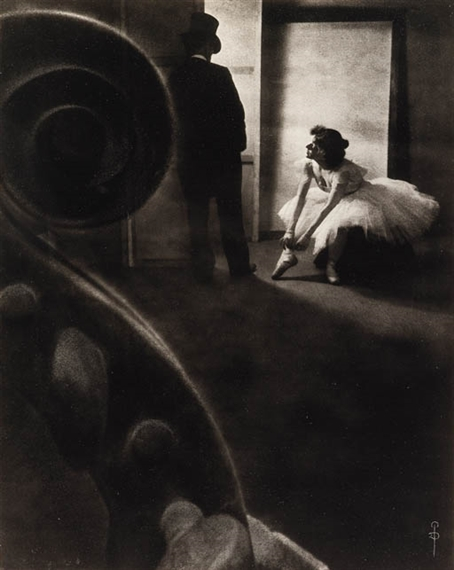 Pierre Dubreuil Behind the Scenes , 1902 Oil print 9 x 7in. (24.2 x 19.1cm.)