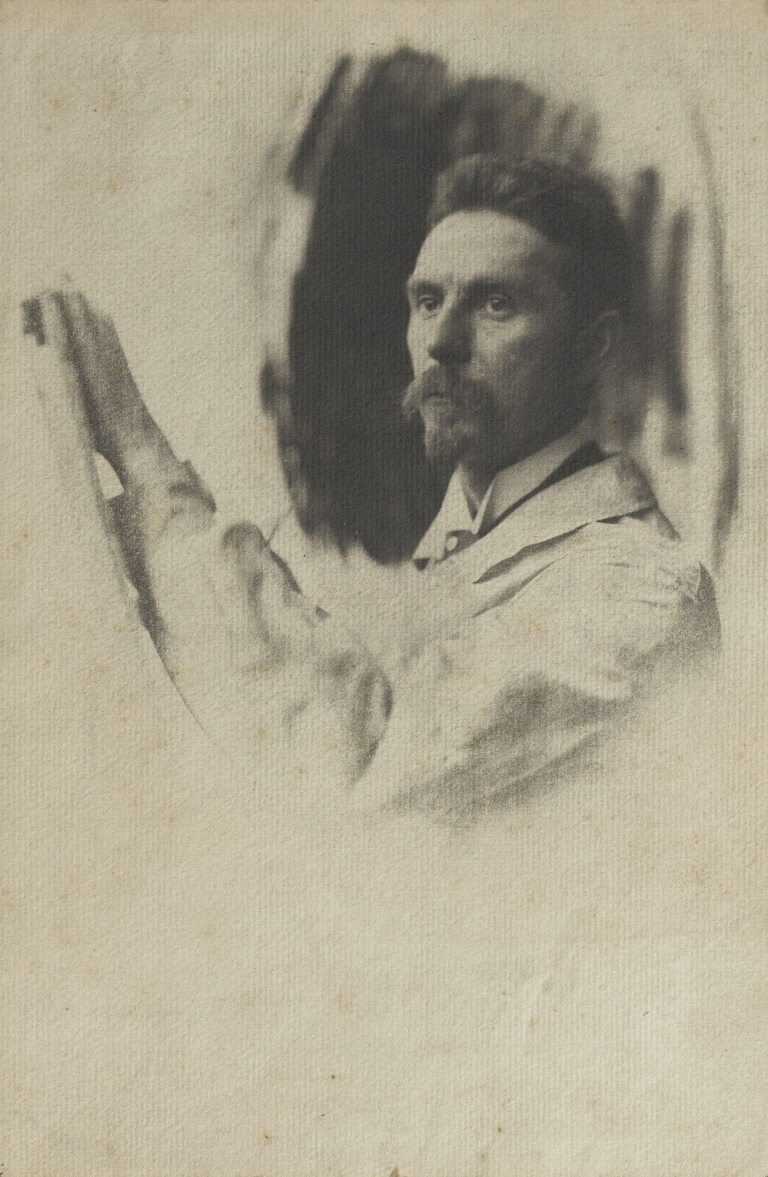 Pierre Dubreuil Portrait of a Painter , 1902 Gum-bichromate print mounted to original card 26.5 x 17.9 cm.