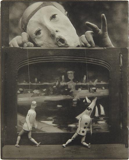 Pierre Dubreuil The Play of Life (Self-portrait) , circa 1930 Oil print 9 7:8 x 7 7:8 in. (25.1 x 20 cm)